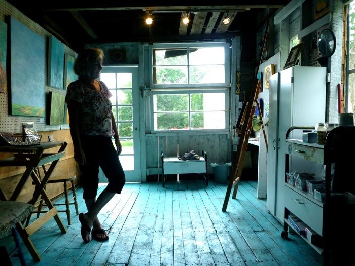 Visiting Susan Geddes' studio in Annapolis Royal.