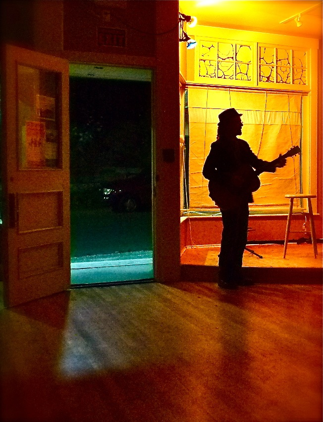 Listening to Caleb Miles after hours in Bear River.