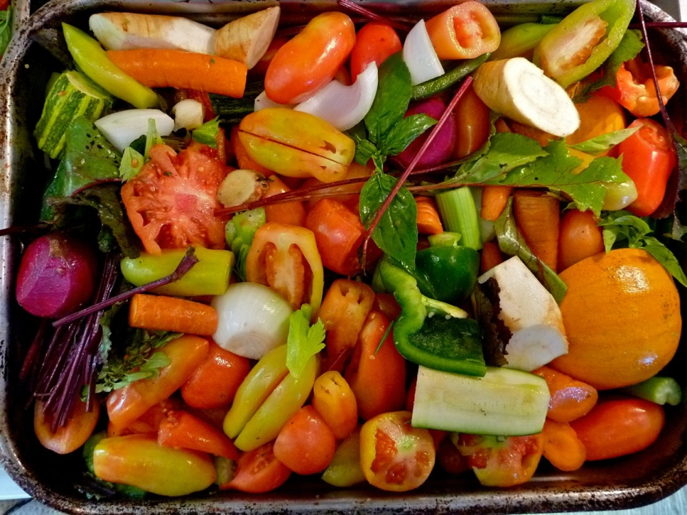 Roasted vegetables will become the most delicious tomato sauce..probably the most versatile ingredient in my freezer.
