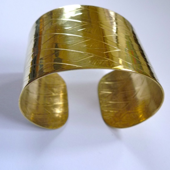 Brass bracelet. © Larry Knox $65.