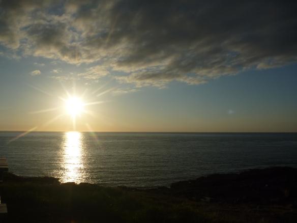 The sun always sets on the Point Prim horizon.