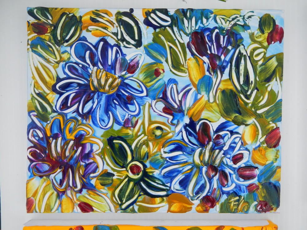 If Zinnias were Blue © Flora Doehler, 2014