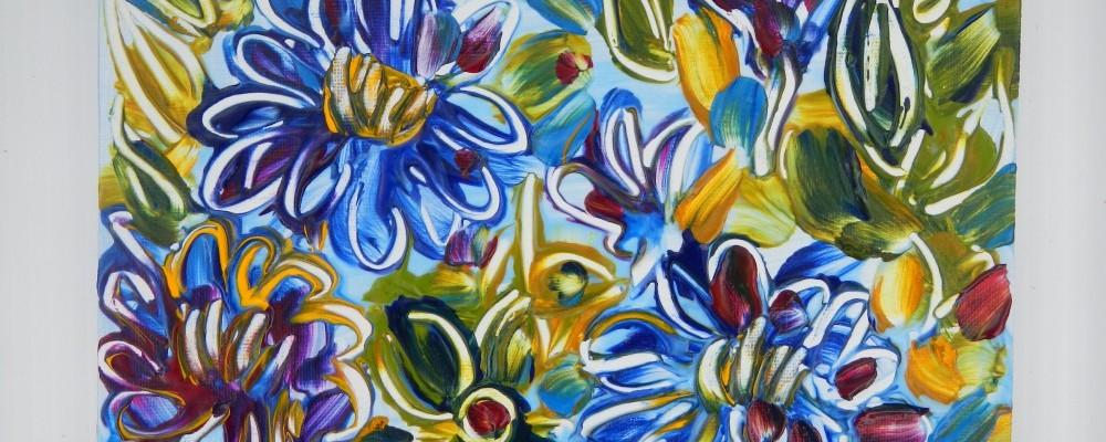 If Zinnias were Blue © Flora Doehler, 2014